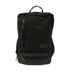 GK Eurosport Bags - GK Eurosport Black Unisex Canvas Backpack 2818a41c96896